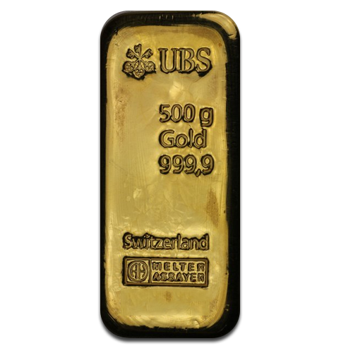 500 gram UBS gold bullion bar