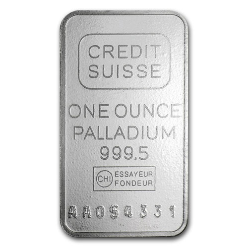1 Ounce Credit Suisse Palladium Bar