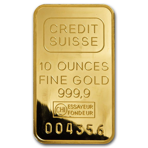 10 Ounce Credit Suisse Gold Bar