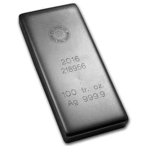 100 Oz RCM Silver Bar
