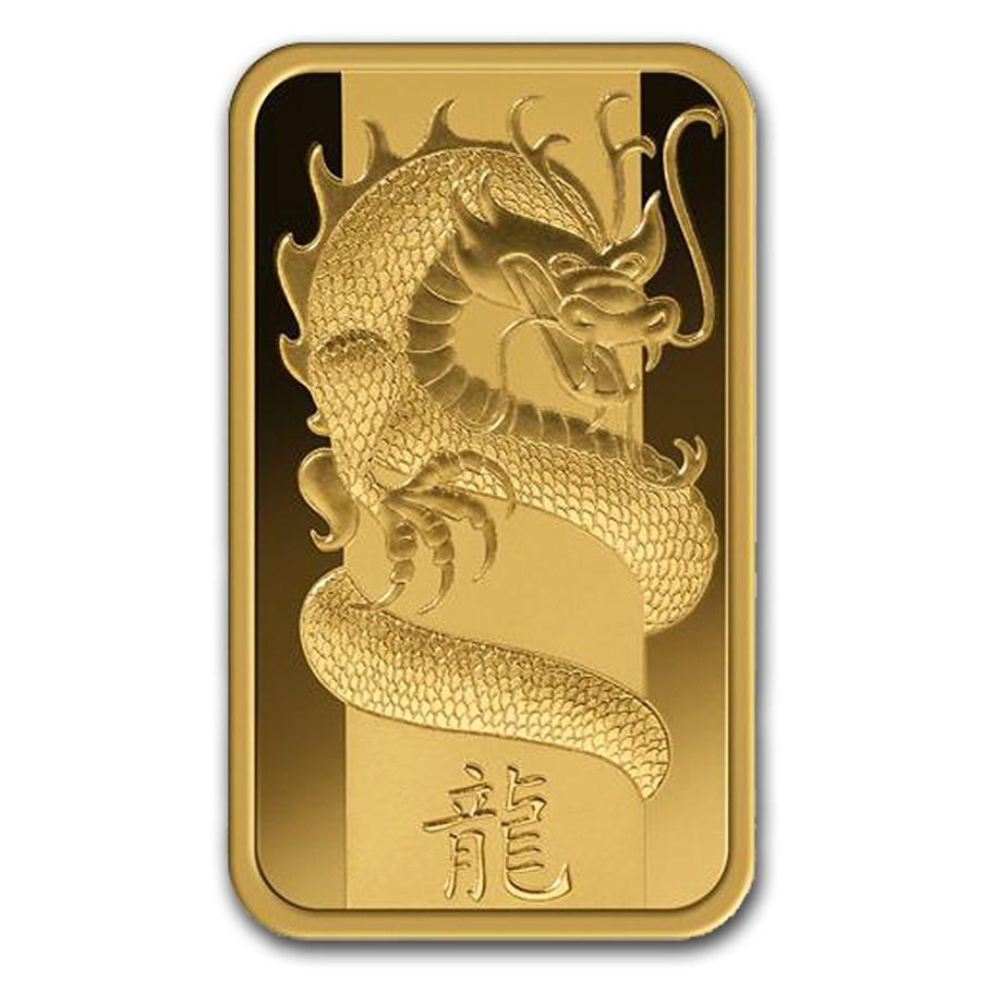 100 Gram PAMP Suisse Gold Bar - Lunar Dragon Series