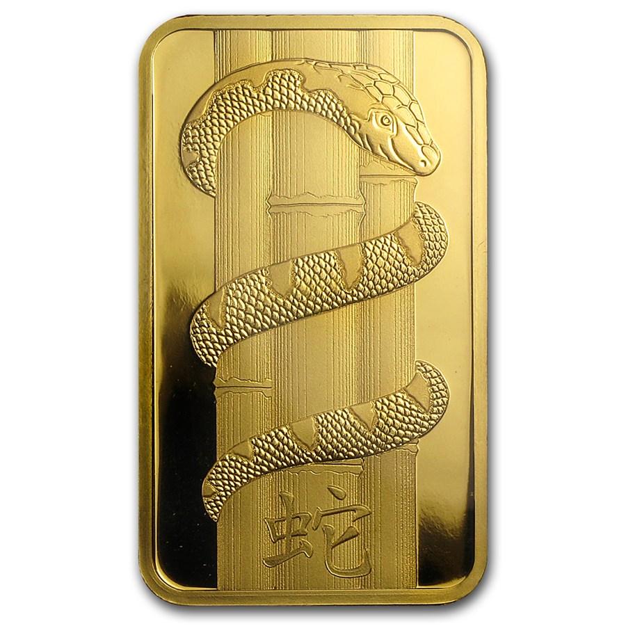 100 Gram PAMP Suisse Gold Bar - Lunar Snake Series